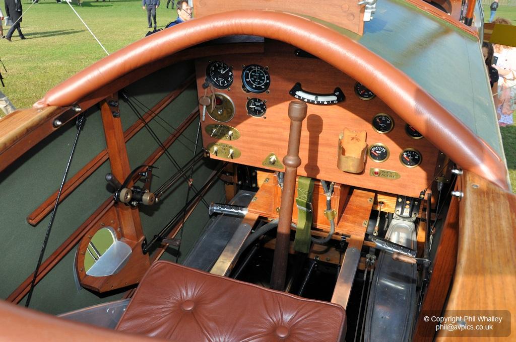 Avro 504 cockpit